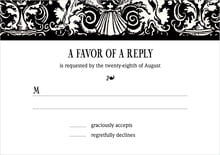 custom response cards - tuxedo - provencale (set of 10)