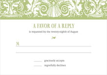 custom response cards - green tea - provencale (set of 10)