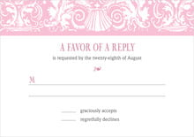 custom response cards - pale pink - provencale (set of 10)