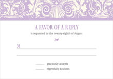 custom response cards - lilac - provencale (set of 10)
