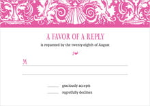 custom response cards - bright pink - provencale (set of 10)