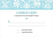 custom response cards - bahama blue - provencale (set of 10)