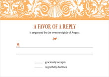 custom response cards - tangerine - provencale (set of 10)