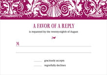 custom response cards - burgundy - provencale (set of 10)
