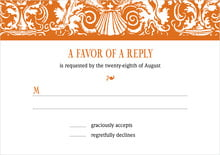 custom response cards - spice - provencale (set of 10)