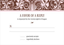 custom response cards - cocoa & pink - provencale (set of 10)