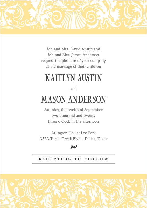 custom invitations - sunburst - provencale (set of 10)