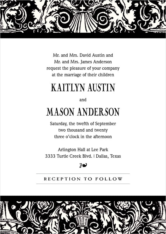 custom invitations - tuxedo - provencale (set of 10)