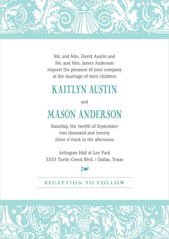 custom invitations - aruba - provencale (set of 10)