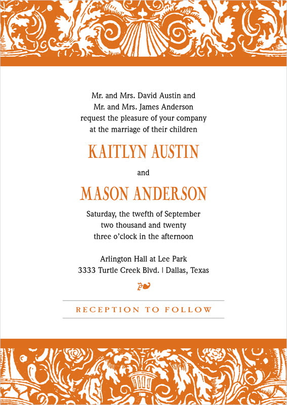 custom invitations - spice - provencale (set of 10)
