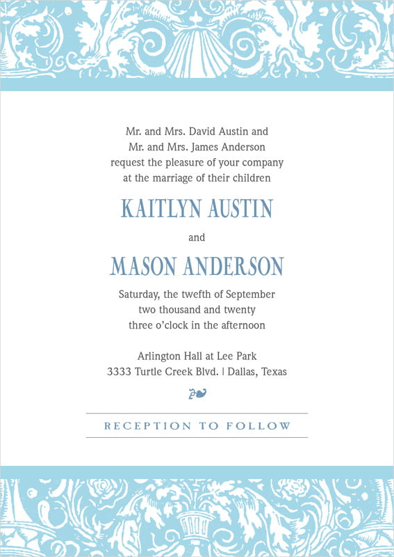 custom invitations - sky - provencale (set of 10)