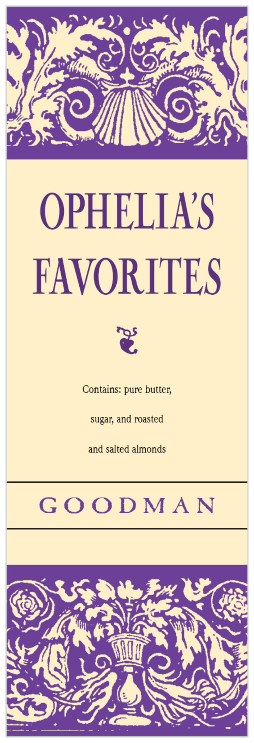 tall food/craft labels - purple - provencale (set of 14)