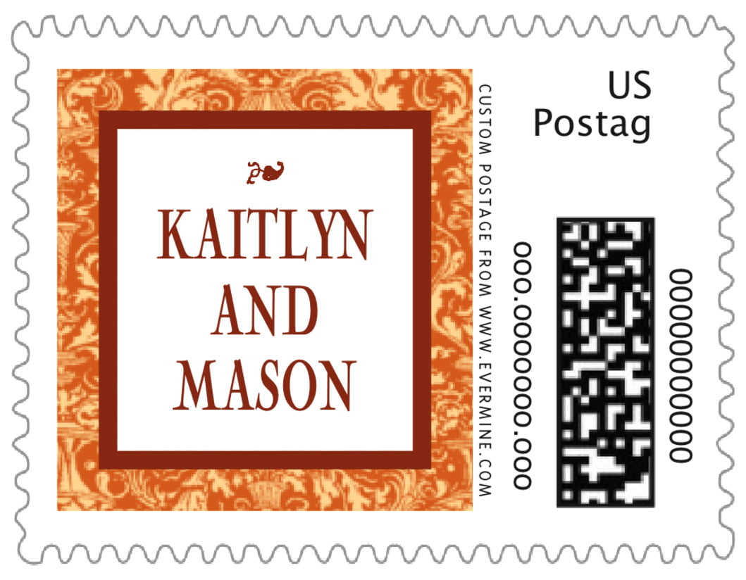 small custom postage stamps - saddle & spice - provencale (set of 20)