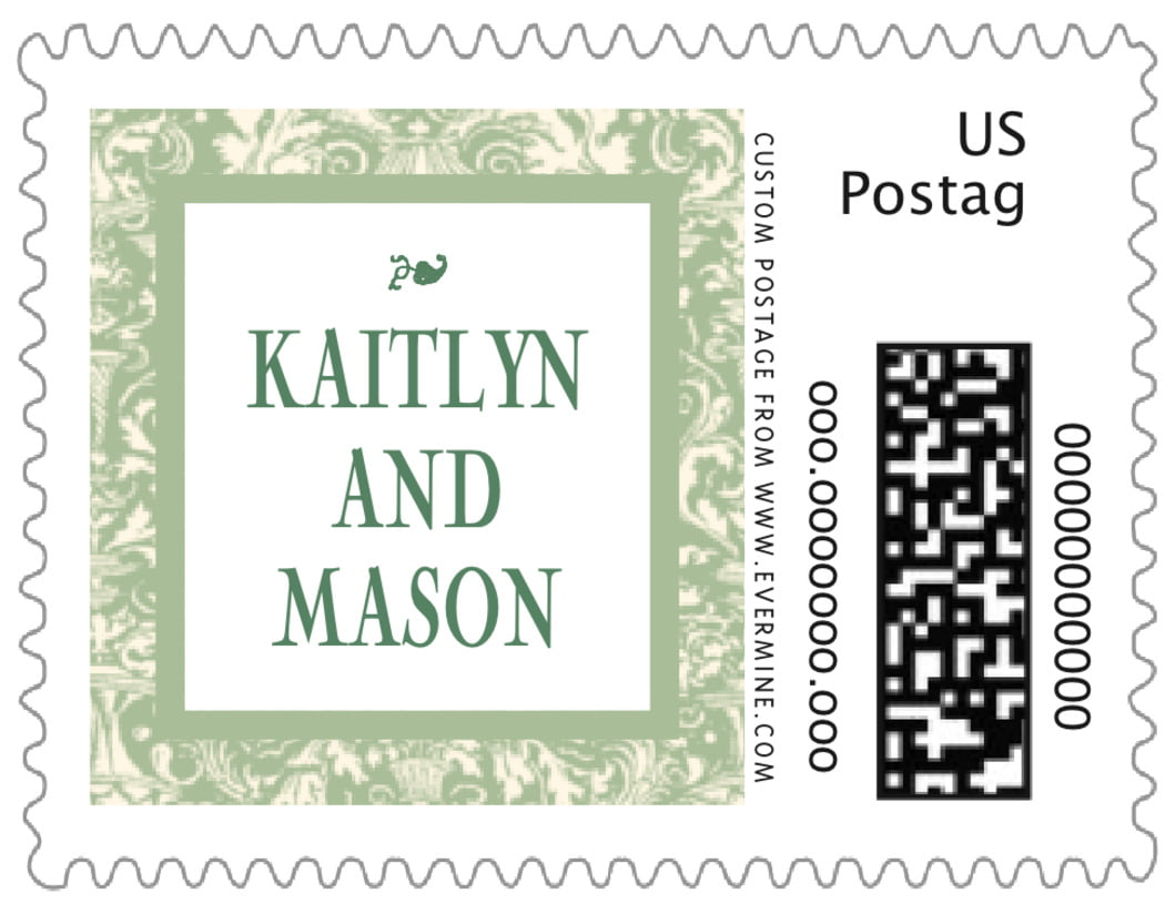 small custom postage stamps - sage - provencale (set of 20)