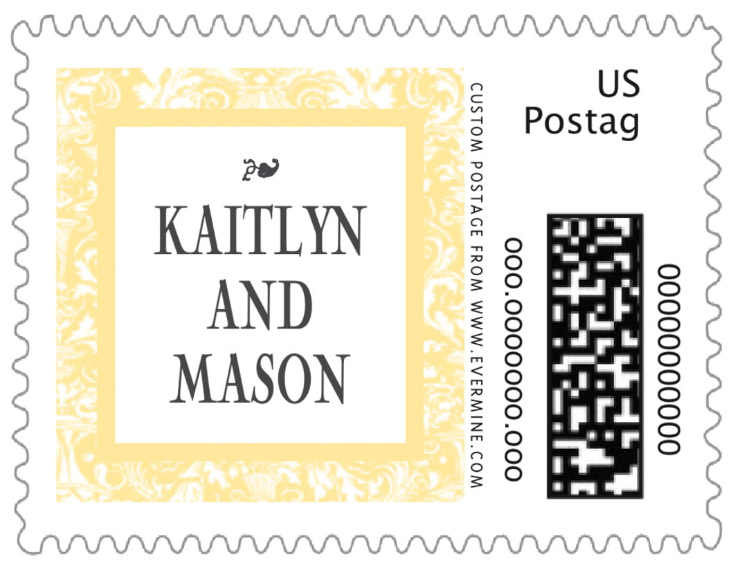 small custom postage stamps - sunflower - provencale (set of 20)