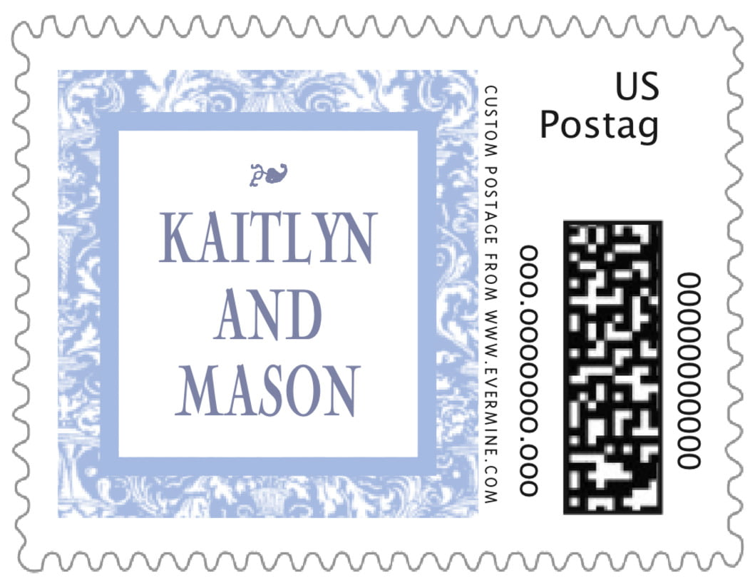 small custom postage stamps - periwinkle - provencale (set of 20)