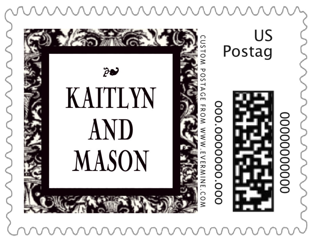 small custom postage stamps - tuxedo - provencale (set of 20)
