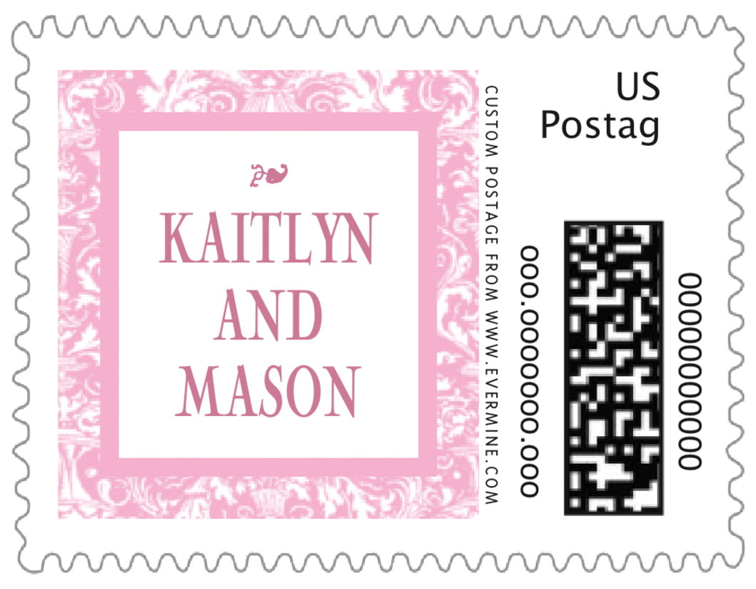 small custom postage stamps - pale pink - provencale (set of 20)