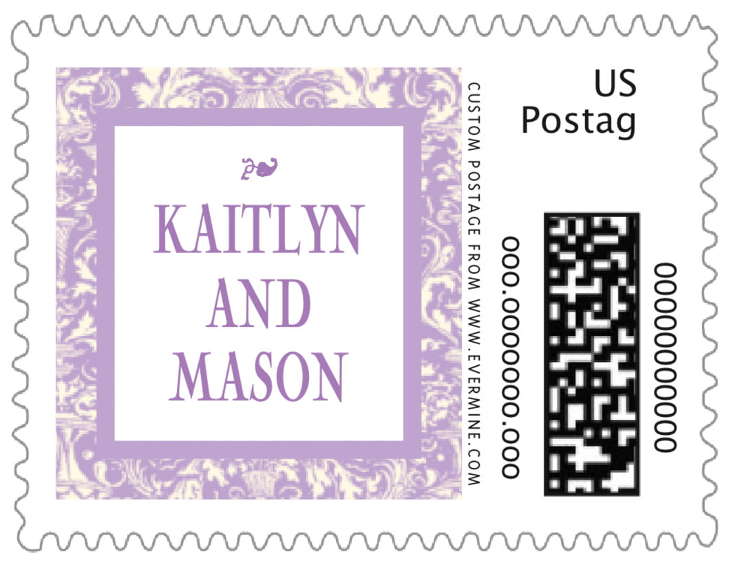 small custom postage stamps - lilac - provencale (set of 20)