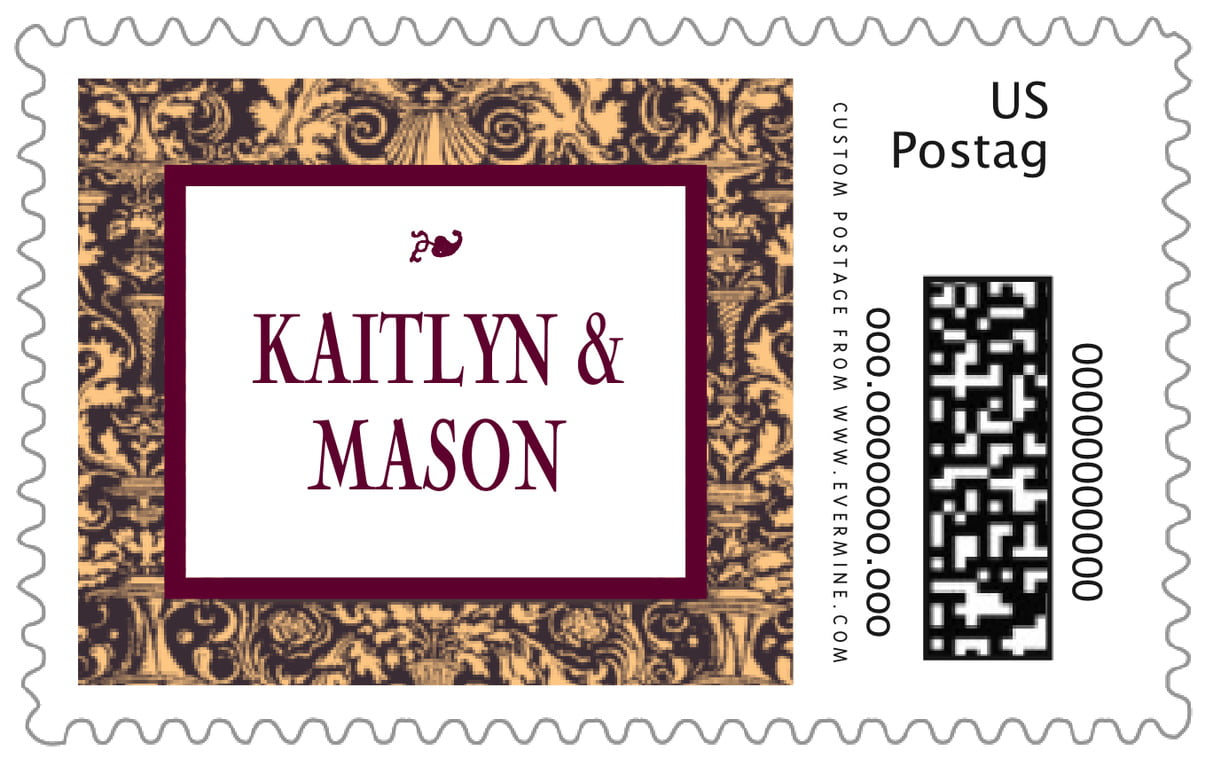 custom large postage stamps - charcoal & ivory - provencale (set of 20)