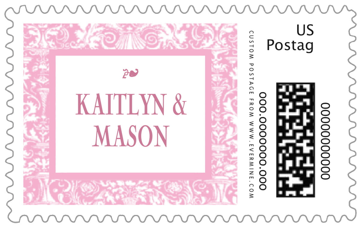 custom large postage stamps - pale pink - provencale (set of 20)