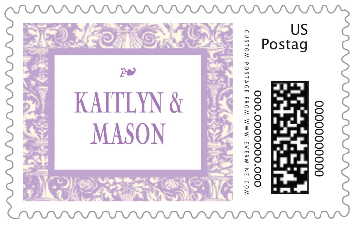 custom large postage stamps - lilac - provencale (set of 20)