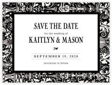 Provencale Save The Date Card In Tuxedo