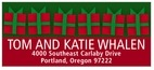 Presents Designer Address Label In Green