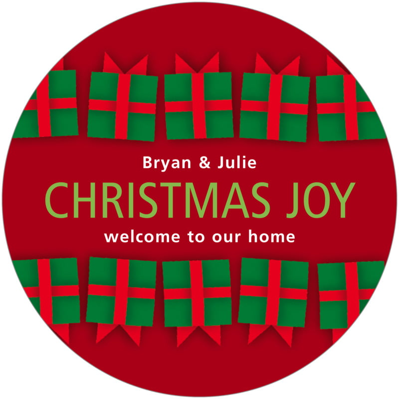 round holiday coasters - wine - presents (set of 12)
