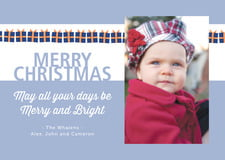 holiday cards - bluegrey - presents (set of 10)