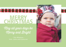 holiday cards - green tea - presents (set of 10)