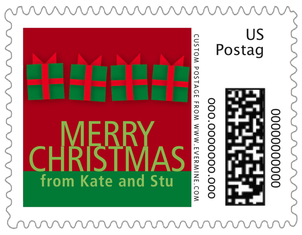 small custom postage stamps - wine - presents (set of 20)