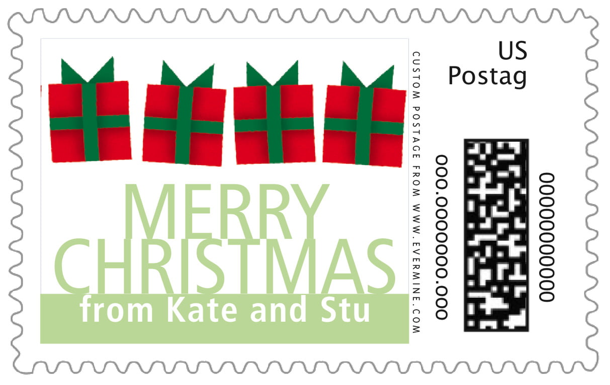 custom large postage stamps - green tea - presents (set of 20)