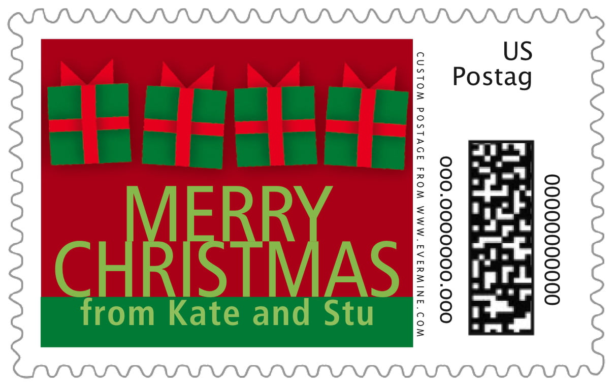 custom large postage stamps - wine - presents (set of 20)