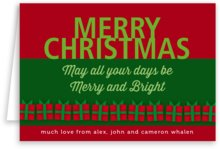 Presents holiday note cards