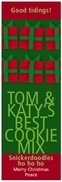 Presents holiday wine labels