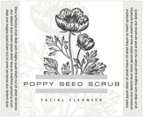 Poppy large wide labels