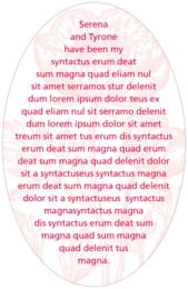 Poppy oval text labels