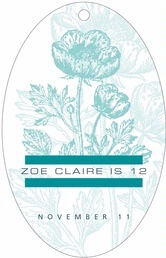 Poppy large oval hang tags