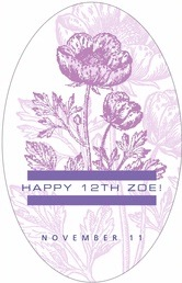 Poppy tall oval labels