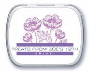Poppy kid/teen birthday mint tins