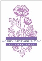 Poppy mother's day labels