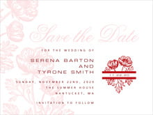custom save-the-date cards - deep red - poppy (set of 10)