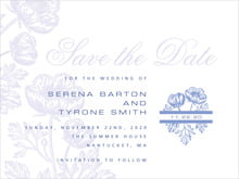 custom save-the-date cards - periwinkle - poppy (set of 10)