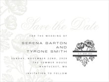 custom save-the-date cards - tuxedo - poppy (set of 10)