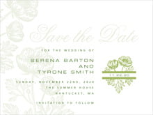 custom save-the-date cards - green tea - poppy (set of 10)
