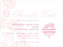 custom save-the-date cards - pale pink - poppy (set of 10)