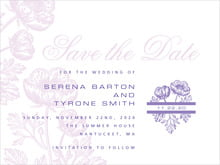 custom save-the-date cards - lilac - poppy (set of 10)