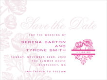 custom save-the-date cards - bright pink - poppy (set of 10)