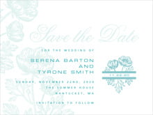 custom save-the-date cards - aruba - poppy (set of 10)